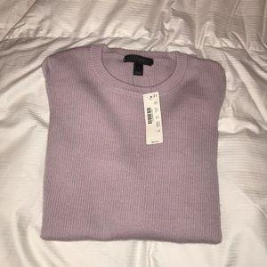 J. Crew Lavender Crewneck Long Sleeve Sweater